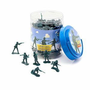 Disney Toy Story Green Army Men Bucket O' Soldiers Mini Figures 90 Piece Set Tub