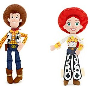 Bundle - 2 Items: Disney Toy Story - Woody Mini Plush 12 inch and Jessie Mini Plush 11 inch