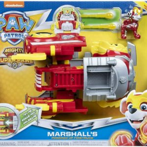 Paw Patrol Mighty Pups Super Paws Marshall's Powered Up Firetruck Truck Vehicle
