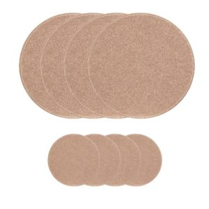 Glitter Circle Set of 4 30cm Reversible Placemats & 4 9cm Coasters - Rose Gold