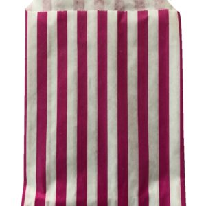Candy Buffet Party Sweet Bags Striped Paper Sweets Bags Set of 50 or 100