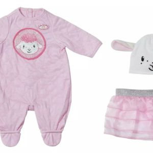 Baby Annabell Deluxe Sequin Sheep Outfit Set For 43cm Dolls Zapf Creation
