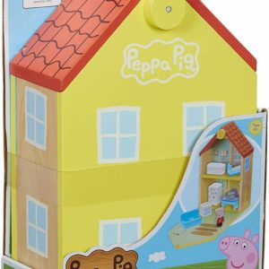 Peppa Pig Peppa's Wooden Family Home House Toy Playset & Figure Wood Toys