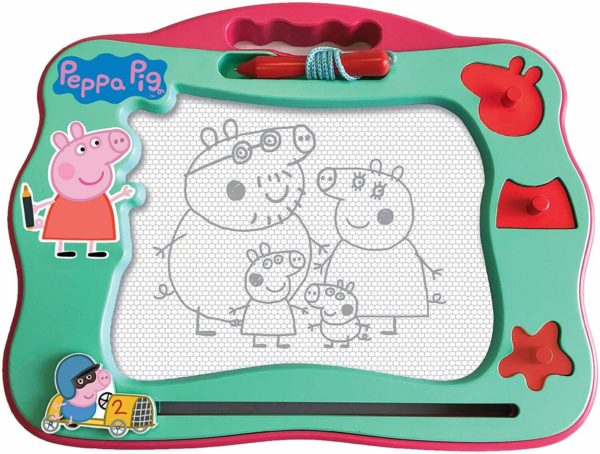 Peppa Pig Peppa's Travel Size Scribbler Magnetic Drawing Toy & Stamps Set