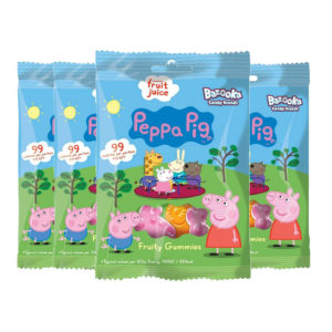 Peppa Pig Fruit Gummies Soft Chewy Gummy Sweet Candy - 4 x 45g Packs