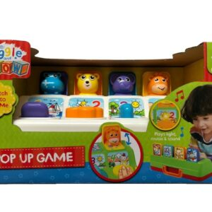 Giggle & Grow Pop Up Game Interactive Learning Toy Playset Lights & Sounds