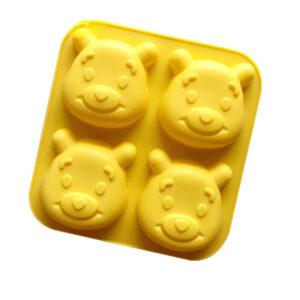 3D Teddy Bear Face Silicone Baking Shaping Mould Cake Jelly Moulds 14x14x3cm