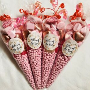 Mother of the Bride Wedding Sweet Candy Cones Sweets Party Bags Filled Favour
