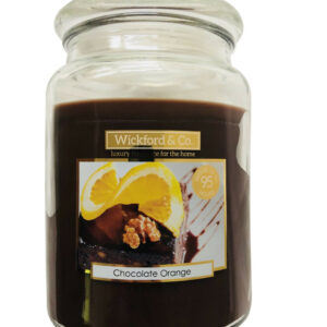 Wickford & Co Large Scented Candle In Glass Jar 15cm 450g - Chocolate Orange