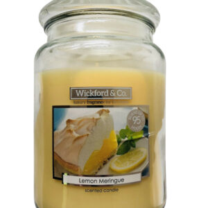 Wickford & Co Large Scented Candle In Glass Jar 15cm 450g - Lemon Meringue