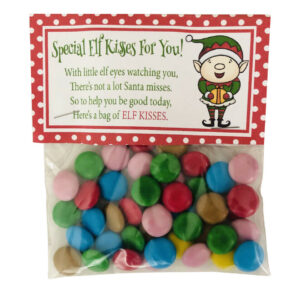 Elf Kisses Chocolate Pieces Sweets Sweet Candy Bag Christmas Xmas Eve Box