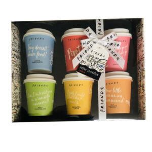 Friends The TV Series Mini Travel Takeout Cups Flavoured Coffee Mix Set of 6